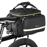 West Biking Bicycle Rear Pannier Bag Waterproof, 20-35L Multi-Function Large Capacity Bicycle Rear Seat Trunk Bag, Detachable Bicycle Tail Seat Trunk Bag
