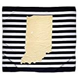 Twig & Bale West Lafayette Purdue Indiana Baby Blanket Organic Cotton Muslin Swaddle Blanket - 47' x 43' - Fans of Purdue Baby Gift for Boys Girls Receiving Blankets