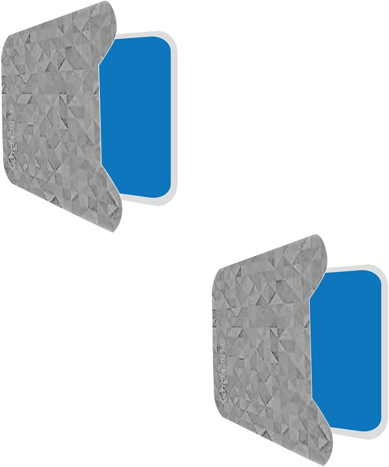 STICK-AMIS Hands-Free Phone Sticker - Anti-Gravity Nanosuction Phone Holder Sticky Pad - Stick Your Phone Anywhere from Walls, Mirrors, Glass, Car Dashboards & Smooth Flat Surfaces - Gray Bae 2 Pack