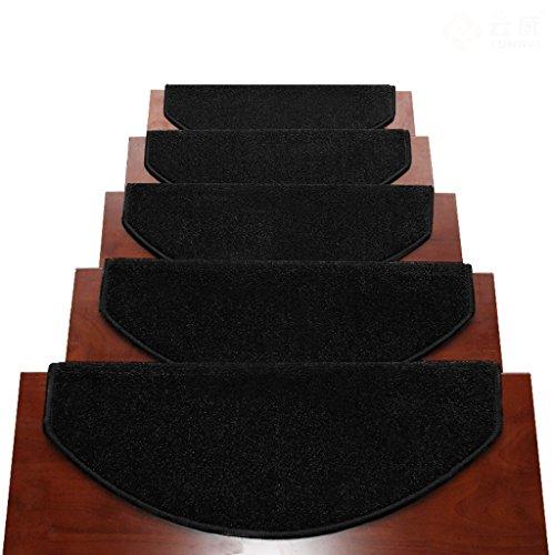 Tappeti scale2 BBYE Extra Spesso Stair Carpet Libero Autoadesive Antiscivolo Solido della Famiglia di Legno Passaggio Pad (Colore : # 6, Dimensioni : 80 * 24cm-A)