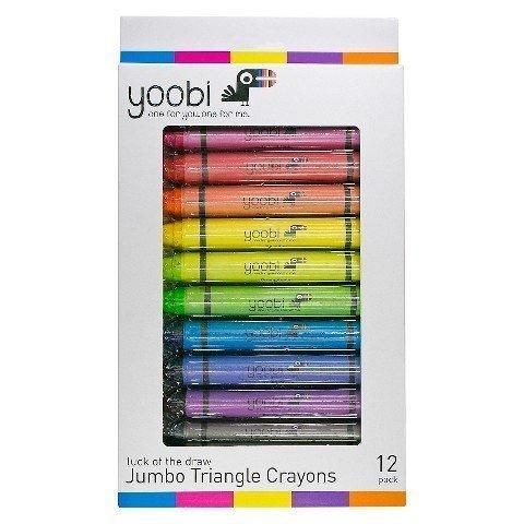 Yoobi Jumbo Triangle Crayons Pack of 12
