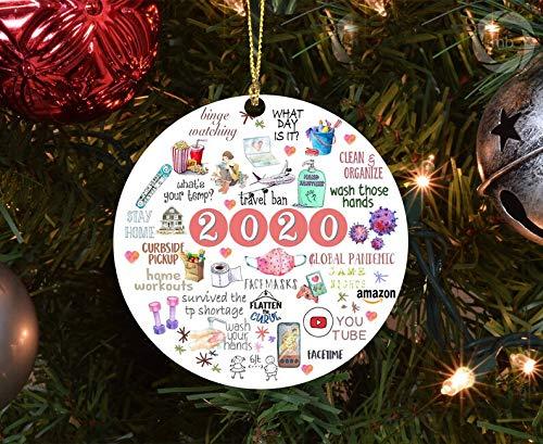 Himanjia 2020 Quarantine Christmas Ornament Things to do During coronavirus Outbreak
