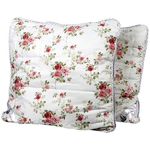 Stoffhanse Kissen 80 x 80 cm, 2er Set, floral | Bettwaren | Kopf-Kissen | nach Öko-Tex Standard