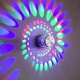 Wandleuchte Für Schlafzimmer Wandleuchte Innen Hall Treppen Metall Spirale Licht Veranda Einfache Aluminium Korridor Gang Hintergrund Wanddekoration Lampe An Der Wand Montiert 3W Bunt + Fernbedienung