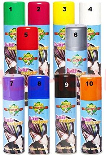 Bombes Spray Bouteilles Peinture à cheveux Soirée Carnaval 125ml - Couleur BLEU