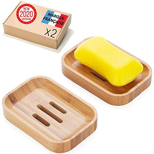 Takit Seifenschale Holz 2X [NEU 2020] Umweltfreundliche Natürliche Seifenschale Bambus Für Dusche, Bad, Küche