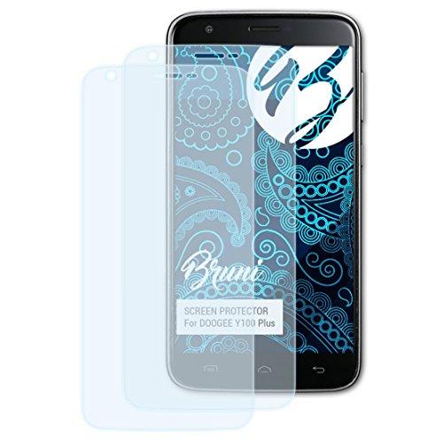 Bruni Schutzfolie kompatibel mit DOOGEE Y100 Plus Folie, glasklare Bildschirmschutzfolie (2X)