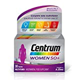 Centrum Women 50+ Multivitamin & Mineral Tablets, 24 Essential Nutrients Including Vitamin D, Complete Multivitamin Tablets, 30 Tablets