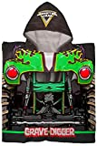 Monster Jam Grave Digger Kids Bath/Pool/Beach Hooded Poncho - Super Soft & Absorbent Cotton Towel, Measures 28 x 28 Inches (Official Monster Jam Product)