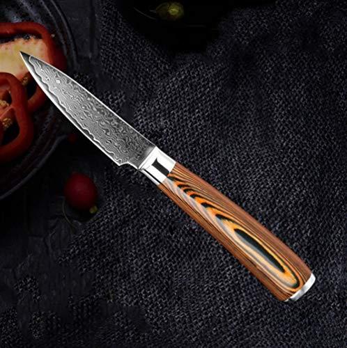 Alta calidad Damasco cuchillo de cocina japonesa VG10 alto contenido de carbono del acero inoxidable de Chef Profesional cuchillo de deshuesar rebanar Utilidad Cleaver cuchillos