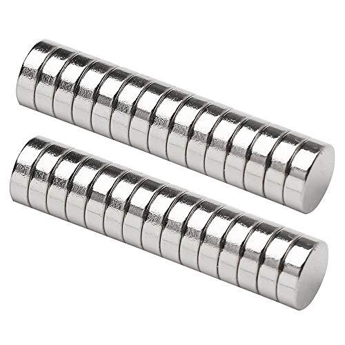 HHOOMY Neodym Magnete, 6x3mm Kühlschrankmagnete Starke Runde Magnete, N52 NdFeB Magnete Rare Earth Permanentmagnet für DIY Craft Offic, Whiteboard, Magnettafel Bänder (25 Stücke)