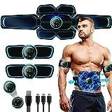 Electroestimulador Muscular Abdominales Cinturón,Masajeador Eléctrico Cinturón con USB,EMS Ejercitador del Cuerpo de los Músculos de Brazos y piernas para Hombre Mujer