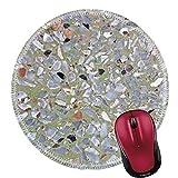Rundes Mauspad Naturkautschuk Mousepad Terrazzo Hintergrundbild von Terrazzo Bodenprofil