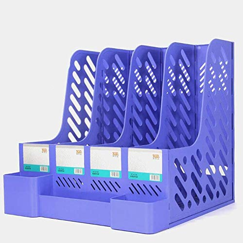 BRFDC Organizador De Libros Escritorio Archivo Organizador de Escritorio papelería Caja de Almacenamiento plástico Bandeja Caja Modular Documentos Organizador Oficina Escritorio Archivo Organizador