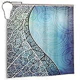 LarissaHi Vectores de Fondo Azul y Curva de GraphicRiver, Cortina de Ducha de decoración del hogar 72inX72in