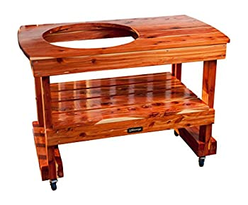 JJGeorge Big Green Egg Table  Compact Table for Large Green Egg  Table Cover Included