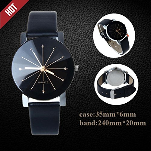 Promotions - Man Watch, Casual Sports Quartz Watch - Leather Band Strap Watch - Fashion Analog Wrist Watch (Schwarz)