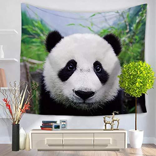 N/A Tapices 3D Impresión Lindo Panda Animal Tapiz Mandala Colgante de Pared Bohemio decoración del hogar Manta de Playa tapices de Tela decoración del hogar Regalos de decoración de tapete de Picnic