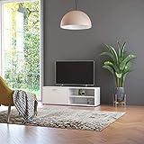 vidaXL Mueble para TV Salón Comedor Mesa Televisión Televisor Equipo de Música Armario Bajo Almacenaje Soporte de Aglomerado Blanco 120x34x37cm