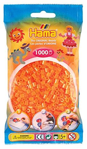 Hama 207-38 - Perlen, 1000 Stück, neon-orange