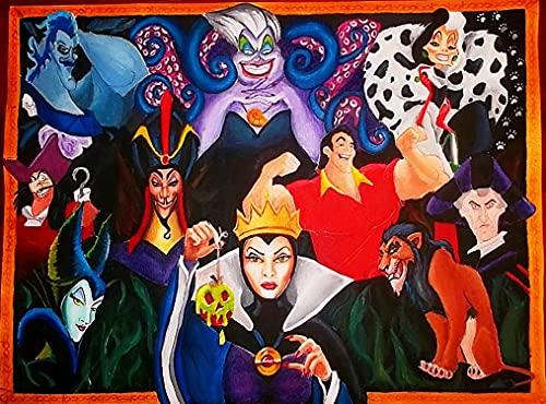IUYHJ Disney Horror Strega Cattiva, Ricamo Diamante Pieno 5D Pittura Diamante Kit Fai da Te Artigianato per Principianti per la Decorazione della Parete o Regali(15.8x19.7inch)