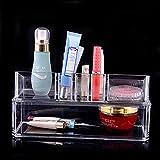 HAOT Boîte de Rangement Cristal Transparent boîte cosmétique Soins de la Peau écouvillon boîte à Bijoux Haut de Gamme