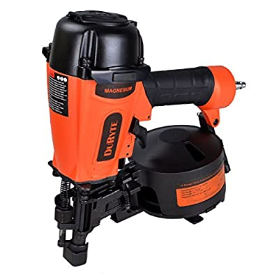 DuRyte Pro 11 Gauge 7/8 to 1-3/4-Inch Air Coil Roofing Nailer with Magnesium Housing
