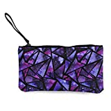 TTmom Carteras de Mujer,Monedero,Space Texture Inside Triangles Pattern Pen Holder Stationery Organizer Change Purse Coin Pouch Mini Clutch Bag for Home and Office