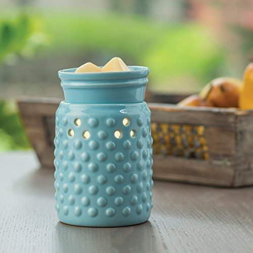 CANDLE WARMERS ETC. Midsized Illumination Fragrance Warmer- Light-Up Warmer for Warming Scented Candle Wax Melts and Tarts or Essential Oils to Freshen Room, Hobnail