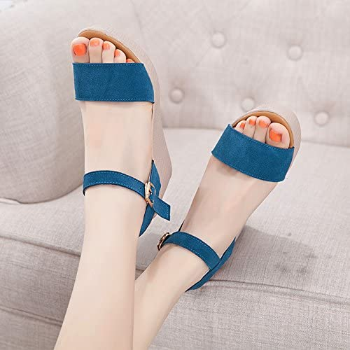YMFIE Mode d'été Confortables à Bout Ouvert Wedge Sandales Mesdames Poisson Bouche Chaussures