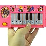 Mini 8 teclas de piano eléctrico instrumento musical juguete educativo temprano, aprendizaje de juguetes musicales para regalo de niños, color aleatorio conveniente y práctico
