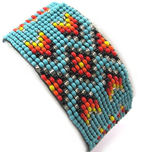 Les Trésors De Lily [N3481] - Ethnische armband 'Katmandou' türkis.