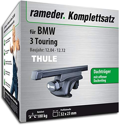 Rameder Komplettsatz, Dachträger SquareBar für BMW 3 Touring (115961-05430-97)