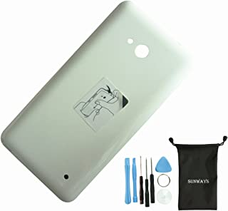 Sunways Back Battery Housing Door Cover Replacement with Tools for Nokia Microsoft Lumia 640 (White)
