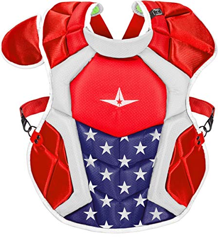 All-Star CPCC1216S7XUSAUSA S7 Axis Chest Protector/Meets NOCSAE/Ages 12-16 USA