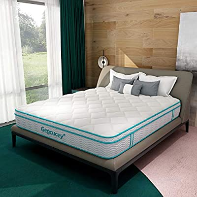 Full Mattress, Gegcucey 12 Inch Hybrid Innerspring Mattress in a Box, Ergonomic Design with Breathable Foam and Pocket Spring for Cool Comfort Sleep - Box Top Series Medium Plush Feel