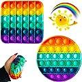 Juguetes Pop It Fidget - Rainbow Push Pop Bubble Fidget It Juguete sensorial, juguete de extrusión de burbujas, juguetes para aliviar el estrés y la ansiedad para niños adultos (forma aleatoria) de LUCKKY