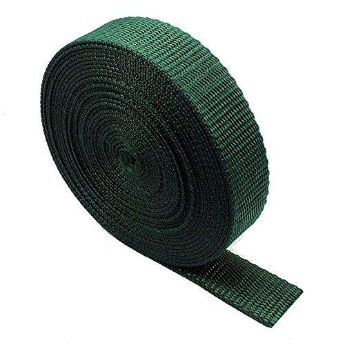 Heavy Duty Webbing Strap Tape - 5 metres - Rucksack/Backpacks, Luggage/Cargo Strapping, Belts (Bottle Green, 38mm)