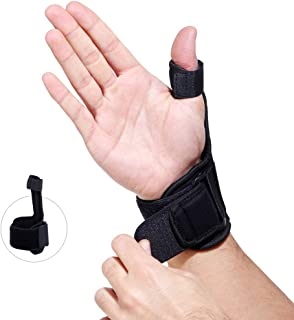 Non-Bulky Thumb Immobilizing Splint - Comfortable, Heat-Retaining and Breathable Neoprene Fabric - Fits Either Hand (Medium)