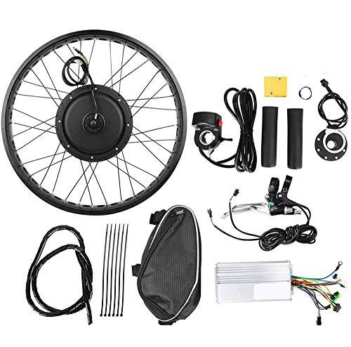 ZLM Fahrrad-Motor Umrüstsatz, Fahrrad Umrüstsatz, 20Inch Elektrisches Fahrrad 48V 1000W Naben-Motor Umrüstsatz Rad 20x4 In,Rear Drive flywheel