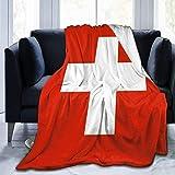 my cat Decke Flagge der Schweiz Wurfdecke Ultraweiche Samtdecke Leichte Bettdecke Quilt Durable Home Decor Blanket50 x40