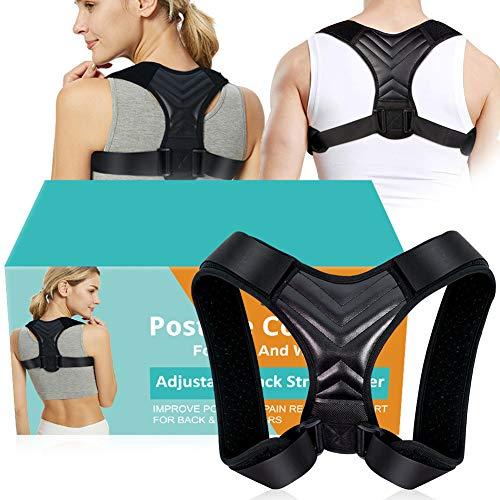 Corregir Postura Espalda,Corector Postural,Posture Corrector for Women Men,Corrector postura ajustable de respaldo