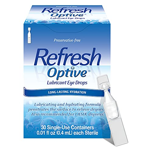 Refresh Optive Lubricant Eye Drops, Preservative-Free, 0.01...