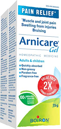 Boiron Arnicare Gel Pain Relief, 2 X 75g Tube Bonus Pack, for Muscle, Joint Pain, Bruising-bruise & Swelling 150 Gram