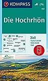 KOMPASS Wanderkarte Die Hochrhön: 3in1 Wanderkarte 1:25000 mit Aktiv Guide inklusive Karte zur offline Verwendung in der KOMPASS-App. Fahrradfahren. (KOMPASS-Wanderkarten, Band 462)