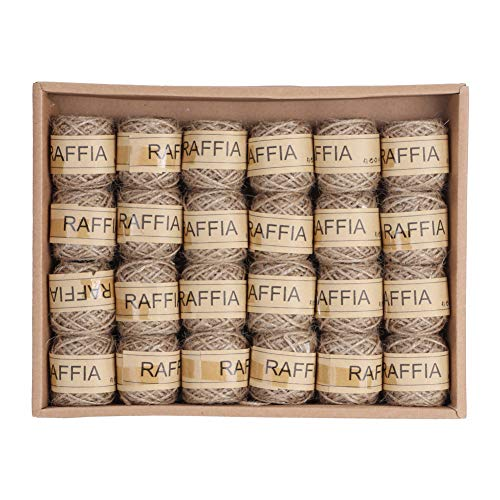 Haofy Natural Jute Twine Hanf Seilfaden Schnur Geschenkverpackungsschnur zum Basteln von Schnurschnur für Bastelprojekte, Verpacken, Verpacken, Gärtnern und mehr