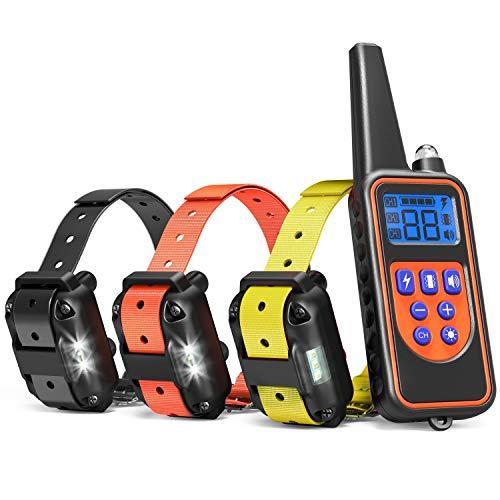TZLong Collar adiestramiento Perros, 800m de Resistencia al Agua Entrenador de Mascotas...