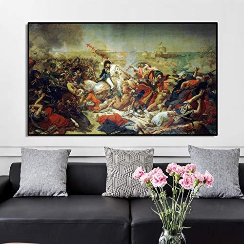 tzxdbh Beroemde Schilderij Posters en Prints Wall Art Canvas Schilderij Jean Gros Slag van Aboukir Foto voor Woonkamer Decor Geen Frame-in van PC9243 30x50cm No Frame