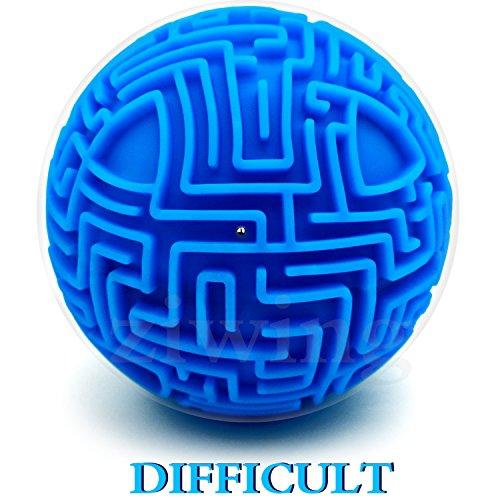Mini 3D Magia Laberinto Puzzle Ball Cube Juego Earth Ball Laberinto Juguete Cerebro Foreplay Juego Aprendizaje Educación Juguetes Educativos Niño Regalo Niño Chica Adulto Vacaciones Cumpleaños Regalo