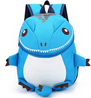 Children's Blue Dinosaur Schoolbag Backpack Anime Cartoon Kindergarten Bag Cute Childlike School Bag